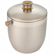 Alan Lee Imperial Collection Filigree Ice Bucket With Domed Lid Brass