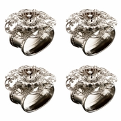 Alan Lee Imperial Collection Filigree Oval Stainless Steel Napkin Rings (Set Of Four) Silver