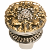 Alan Lee Imperial Collection Filigree Sealing Bottle Stopper Brass