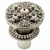 Alan Lee Imperial Collection Filigree Sealing Bottle Stopper Silver