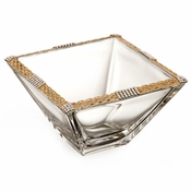 Alan Lee Imperial Collection Filigree Weave 6In. Square Bowl Brass