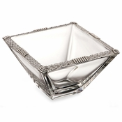 Alan Lee Imperial Collection Filigree Weave 6In. Square Bowl Silver