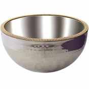Alan Lee Princess Collection 10In Dual Angle Hammered Bowl Gold