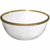 Alan Lee Princess Collection 11In Large Glass Bowl Gold