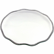 Alan Lee Princess Collection 12 In Scalloped Glass Tray