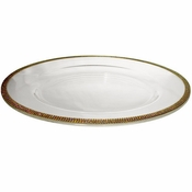 Alan Lee Princess Collection 14In Glass Charger Gold