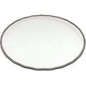 Alan Lee Princess Collection 14In Scalloped Glass Tray