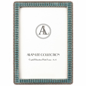 Alan Lee Princess Collection 4 X 6 Encrusted Picture Frame Crystal Ice