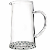 Alan Lee Princess Collection 40 Oz Glass Pitcher With Checker Crystals