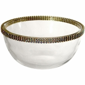 Alan Lee Princess Collection 5In. Glass Bowl Gold
