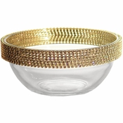 Alan Lee Princess Collection 5In. Stackable Glass Bowl Gold