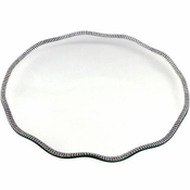 Alan Lee Princess Collection 5In X 12In Oval Glass Tray