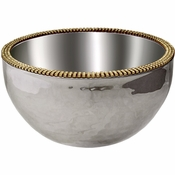 Alan Lee Princess Collection 6In Dual Angle Hammered Bowl Gold