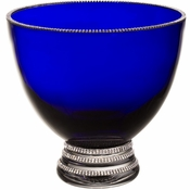 Alan Lee Princess Collection 8.5In Cobalt Footed Bowl
