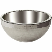 Alan Lee Princess Collection 8In Dual Angle Hammered Bowl