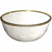 Alan Lee Princess Collection 9In Glass Bowl Gold