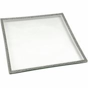 Alan Lee Princess Collection 9In Square Glass Tray