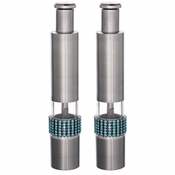 Alan Lee Princess Collection Contemporary Salt And Pepper Mill Set Crystal Ice