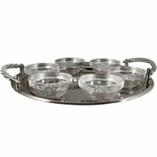 Alan Lee Princess Collection Contemporary Seder Plate With Bowls