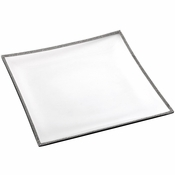 Alan Lee Princess Collection Glass 14In Square Tray