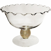 Alan Lee Princess Collection Glass Compote Vase Gold