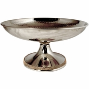 Alan Lee Princess Collection Hammered Metal Footed Bowl Gold