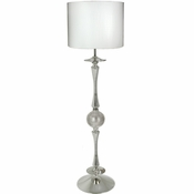 Alan Lee Princess Collection Metal Floor Lamp With Faux Alligator Shade