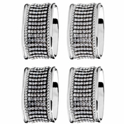 Alan Lee Princess Collection Oval Stainless Steel Napkin Rings Set Of Four