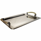 Alan Lee Princess Collection Rectangular Tray With Handles Gold