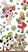 Alice In A Winter Wonderland-White Guest Towel Set of 15
