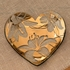 Annieglass 2016 Tiger Lily Collectible Heart Plate Gold
