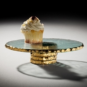 Annieglass Edgey Cupcake Stand Gold