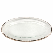 Annieglass Edgey Large Oval Platter Platinum