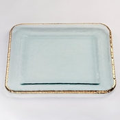 Annieglass Edgey Large Square Platter Gold