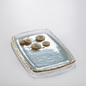 Annieglass Edgey Martini Tray Gold