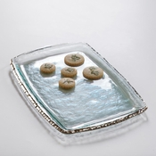 Annieglass Edgey Martini Tray Platinum
