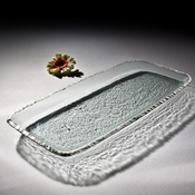 Annieglass Edgey Party Tray Platinum