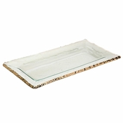 Annieglass Edgey Rectangular Tray Platinum