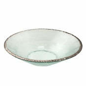 Annieglass Edgey Round Bowl Platinum