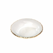 Annieglass Edgey Soup Bowl Gold