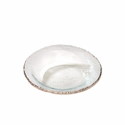 Annieglass Edgey Soup Bowl Platinum