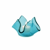 Annieglass Handkerchief Votive Ultramarine