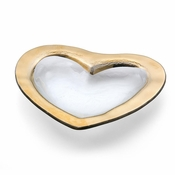 Annieglass Heart Medium Bowl Gold