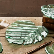 Annieglass Leaves Palm Frond Cheese Board