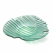Annieglass Leaves Palm Frond Large Platter