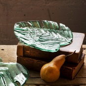 Annieglass Leaves Palm Frond Plate