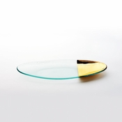 Annieglass Mod Medium Oval Stacking Server Gold