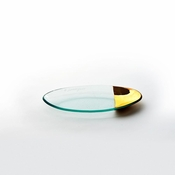 Annieglass Mod Small Oval Stacking Server Gold