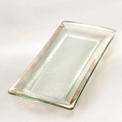 Annieglass Roman Antique Appetizer Tray Platinum