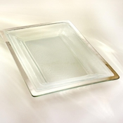 Annieglass Roman Antique Buffet Server Platinum